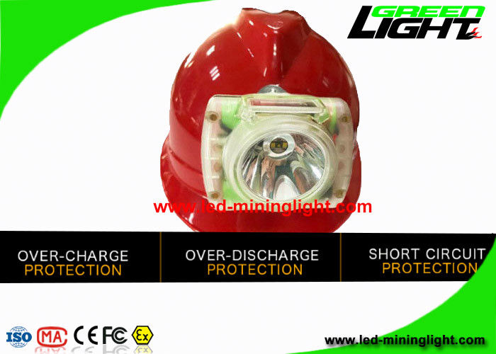 232 Lum LED Mining Cap Lamp Anti Explosion With OLED Screen USB Charger