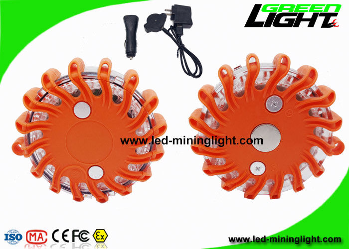 Magnetic Amber Safety Flashing LED Warning Light for Emergency Traffic Signal Road Flare