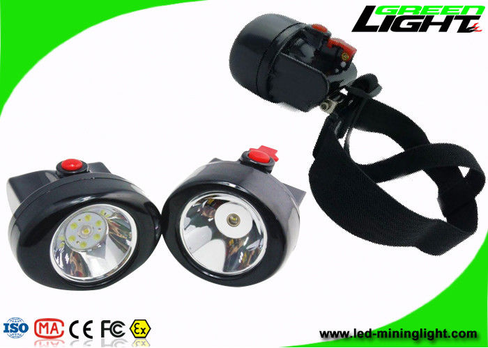 2.8 Ah Cordless LED Headlamp Rechargeable , Long Working Time Miners Cap Lamp