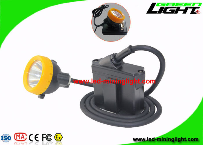 7.8 Ah High Beam Coal Miners Headlamp IP68 Waterproof With Rechargeable Li - Ion Battery