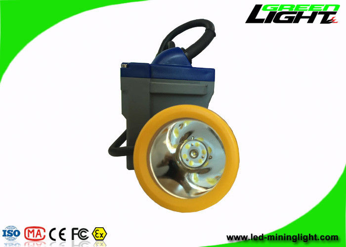 High Brightness Rechargeable LED Hard Hat Light 15000 Lux With 6.6Ah Battery Capacity