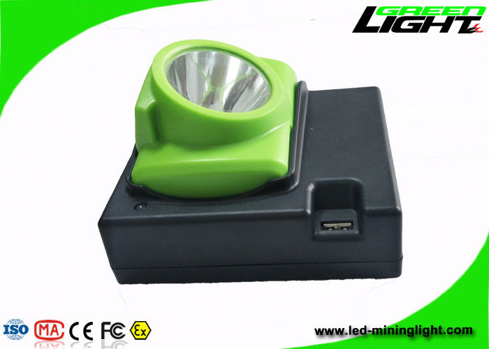 OLED Screen Rechargeable LED coal Headlamp Water Resistant With 14 - 16hours Working Time