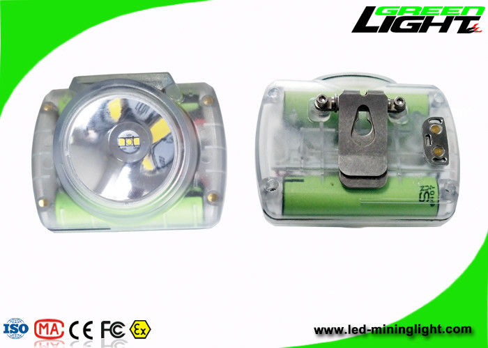 Cordless Rechargeable LED Headlamp , LED Mining Lamp With Transparent Color