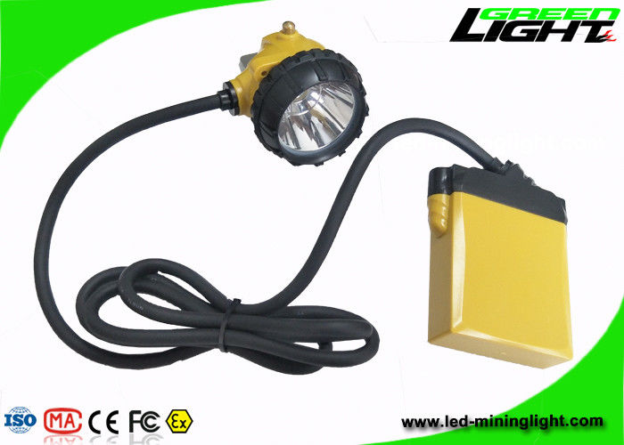 Battery 10.4Ah Miners Cap Lamp 25000lux Brightness 13 - 15 Hours Working Time
