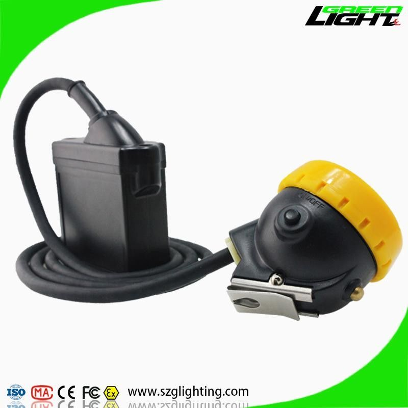 High Beam Corded Mining Cap Lights 10000 Lux With 6.6Ah Li - Ion Battery Pack