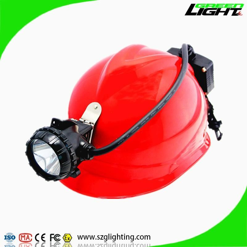 GLS12-A Semi Corded Led Miners Cap Lamp 15000 Lux High Brightness With Rear Warning Light