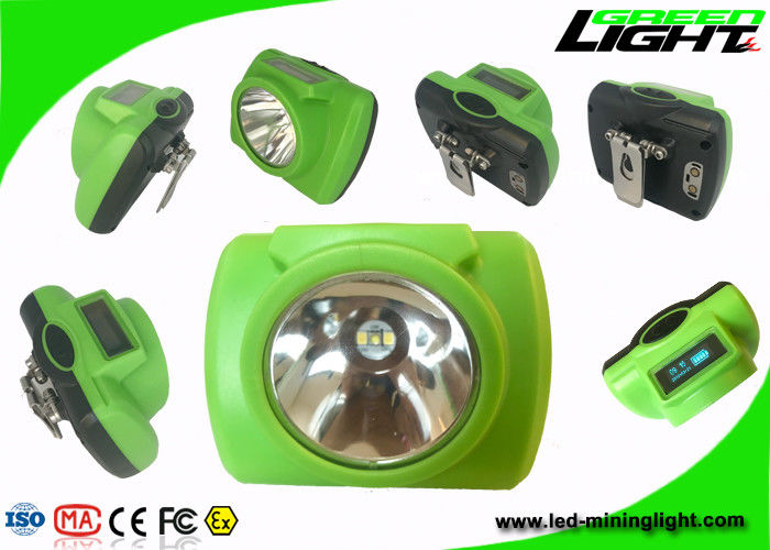 Safety Underground LED Miners Cap Lamp One Main Light Two Auxiliary Lights 13000lux