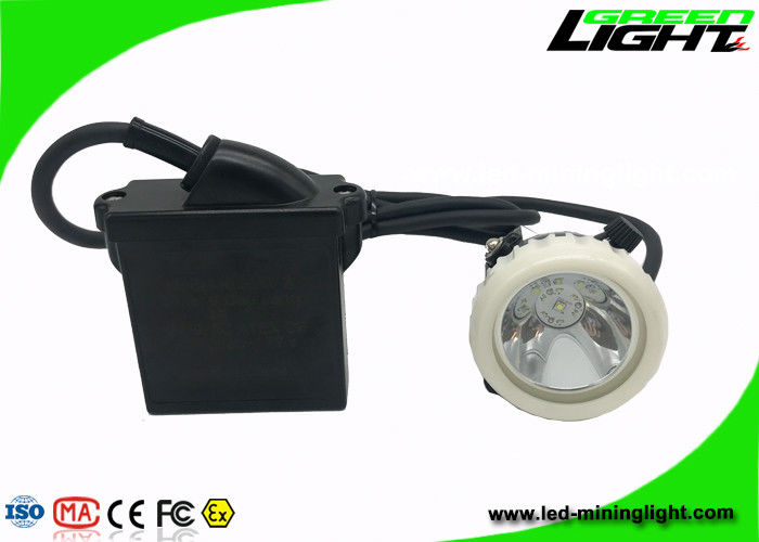 ABS LED Mining Cap Lights IP68 6.6Ah Li - Ion Battery 10000lux Brightness