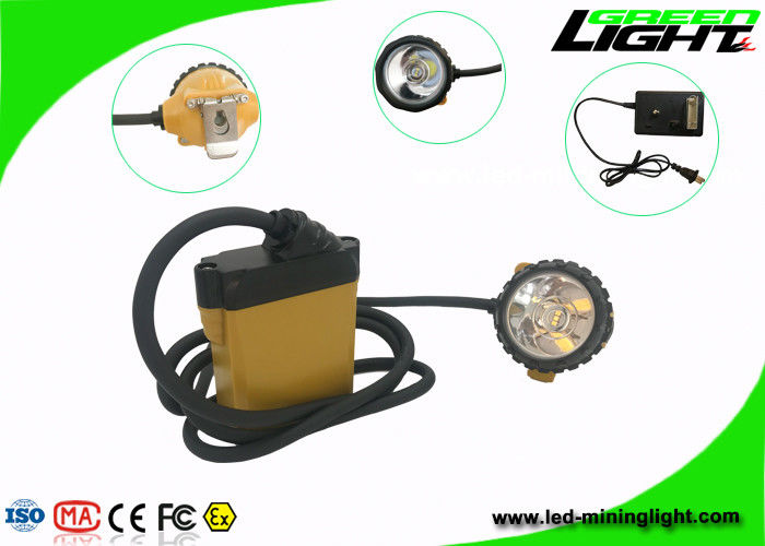 Waterproof IP68 Miners Cap Lamp , SAMSUNG Battery Miners Lights for Hard Hats