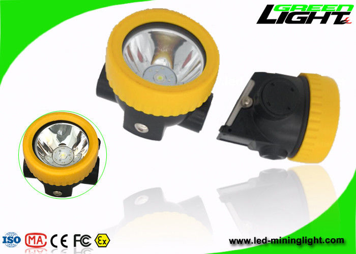 IP68 Waterproof Led Mining Cap Lamp , Hard Hat Led Lights ABS Material 2.2Ah Battery