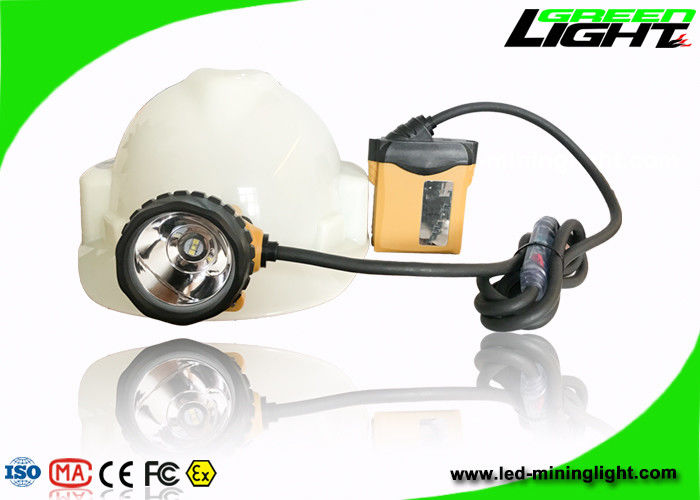 Underground Coal LED Mining Light 25000lux Brightness 10.4Ah SAMSUNG Battery