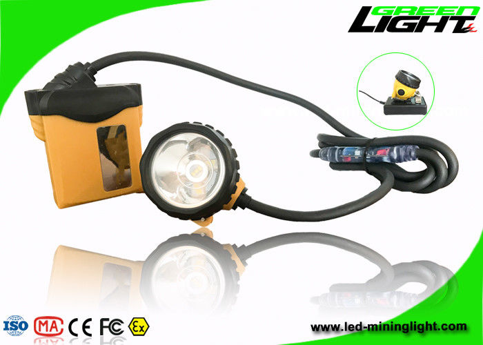 IP68 Waterproof Mining Hard Hat Led Lights 3.7V 25000lux Brightness 1200 Battery Cycles