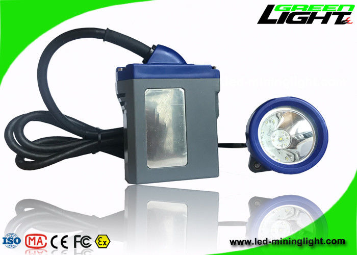 High Safety Rechargeable Led Headlamp 10000lux Brightness 6.6Ah Li - Ion Battery