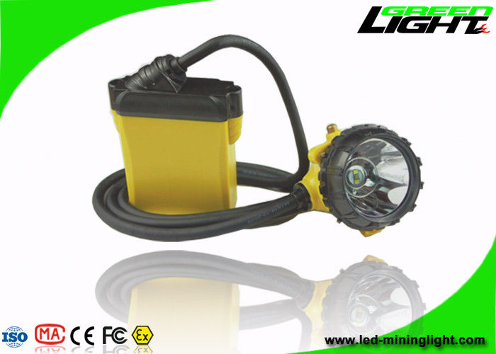 25000lux High Beam Corded Miners Cap Lamp 10.4Ah Big Capacity SAMSUNG Battery With SOS Function