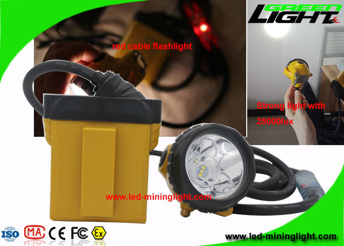 Explosion Proof Rechargeable Led Headlamp 25000 Lux With Security Cable Flashlight