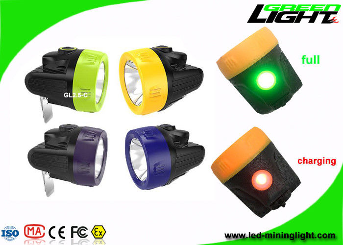 Lightweight Underground Cordless Mining Cap Lamps High Beam Brightness 10000Lux