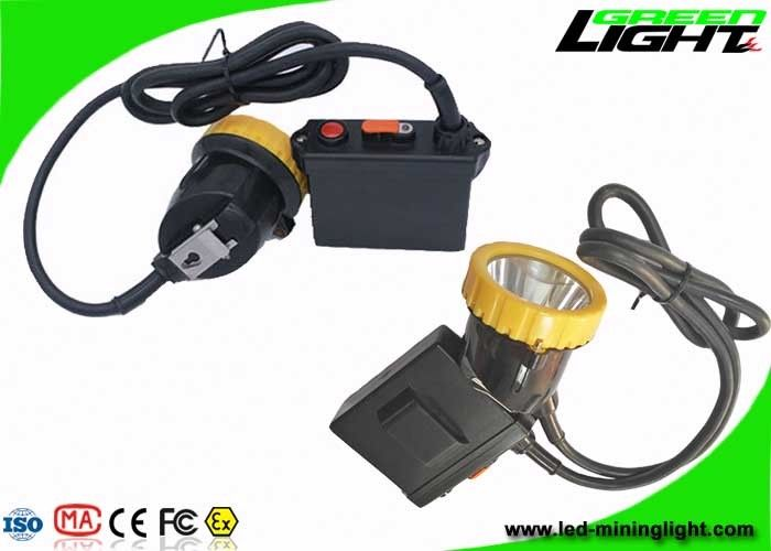 3.7W High Lumen Coal Miners Lamp 50000 Lux IP67 Waterproof 11.2Ah Big Battery Capacity