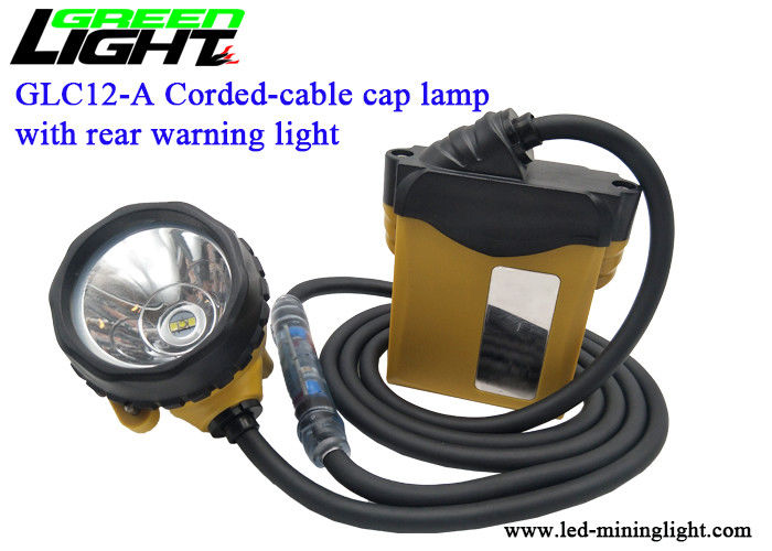 High Beam LED Mining Cap Lamp , 25000lux Coal Miners Headlamp 10.4Ah Battery with low warning light
