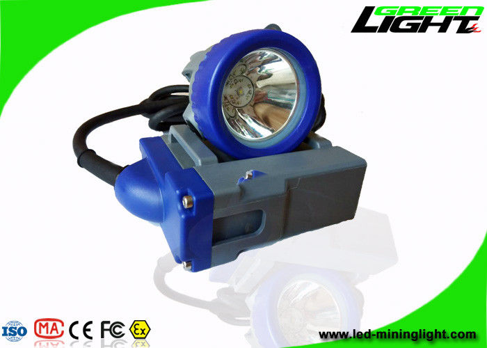 Rechargeable 6.6Ah Led Miners Cap Lamp 4000lux GLT-7A Corded IP68 PC Material