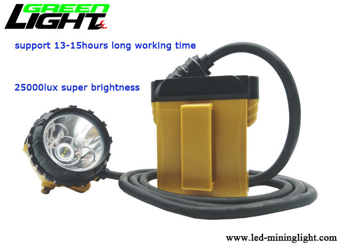 High Power Cordless Mining Cap Lamps 25000 Lux With Samsung Rechargeable Lithium Batteries