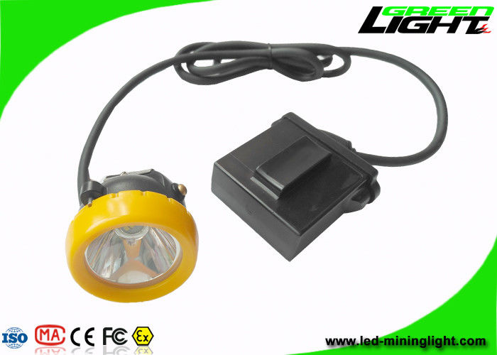 Anti Explosive Led Miners Cap Lamp 10000lux Brightness With Low Power Warning Function
