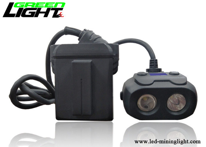 Dual Beam Led Mining Headlamp 15000lux High Brightness Waterproof With Oled Screen