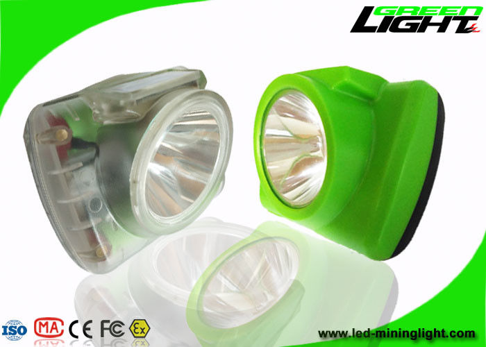 Super Light Cordless Mining Lights 13000lux With Adjustble Stainness Steel Clip