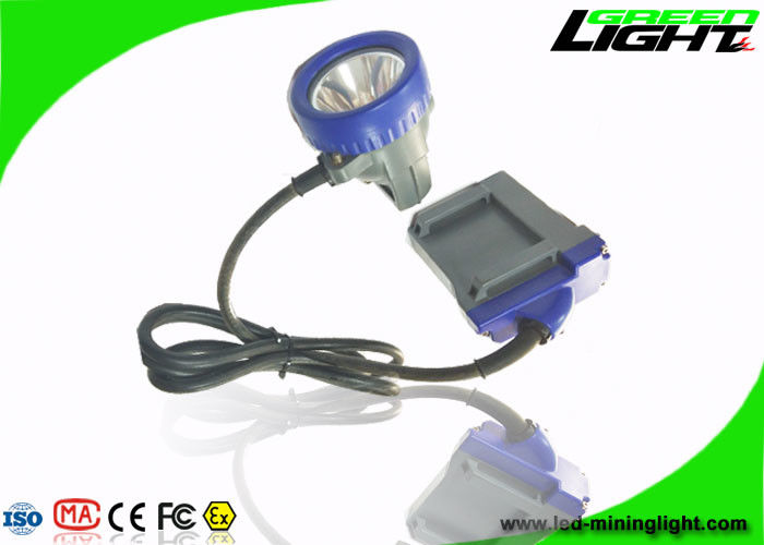 IP68 Coal Miner Hard Hat Light 10000lux 6.6Ah Li - Io Battery Anti Explosive