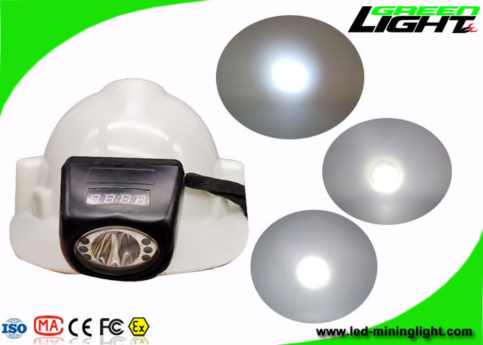 Digital Screen Portable Cordless Mining Cap Lamps IP68 8000lux High Brightness
