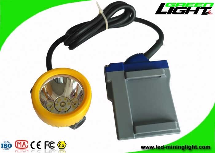 6.6Ah Rechargeable Battery Mining Hard Hat Lights 15000lux With 16hrs Long Lighting Time