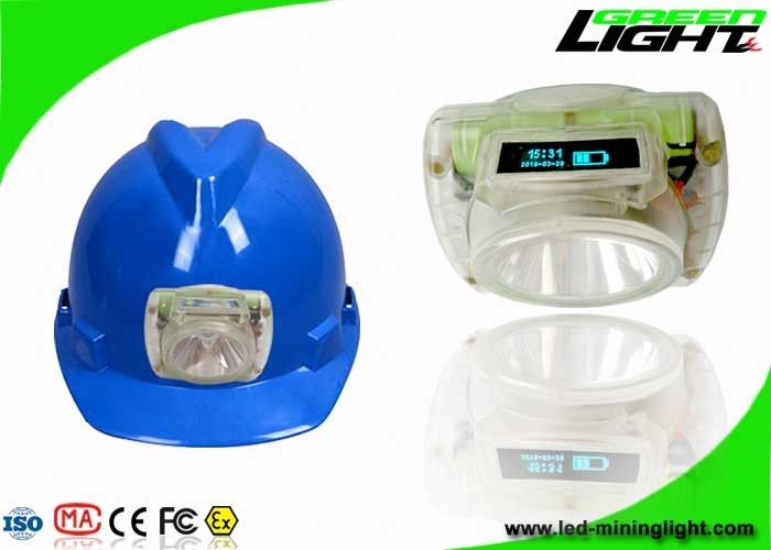 Portable Lightweight LED Coal Miners Lamp 6.8Ah Rechargeable Battery With OLED Screen