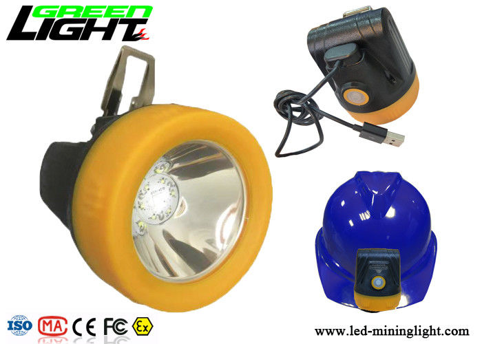 Cordless SE Mining Hard Hat Lights , Led Miners Cap Lamp Li-Ion With Battery Charger