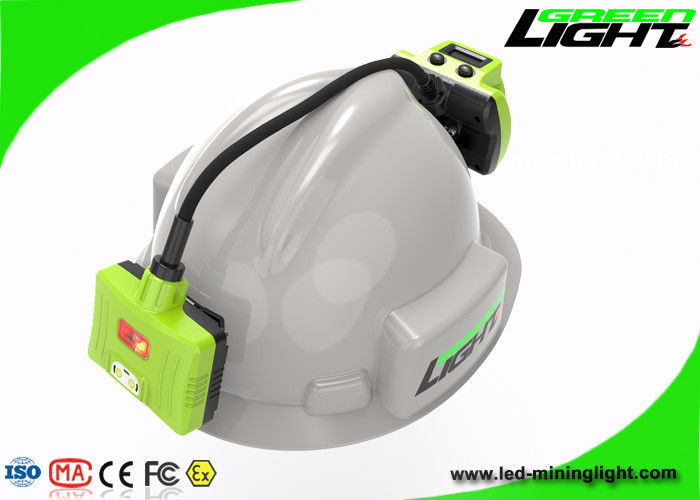 Rechargeable Panasonic Battery Mining Hard Hat Lights IP68 Long Working Time