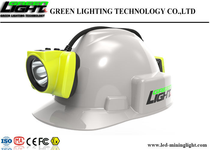 Semi Corded LED Miners Cap Lamp High Brightness GLS-6 With LED Screen Display