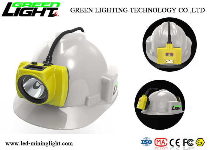 18000lux Underground Mining Cap Lamps 15 Hours Working Time With Display Screen