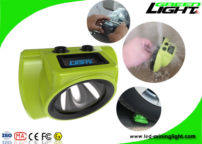 Oled Screen Led Headlamp Mining Hard Hat Lights Lithium Battery 6.8Ah 18000lux