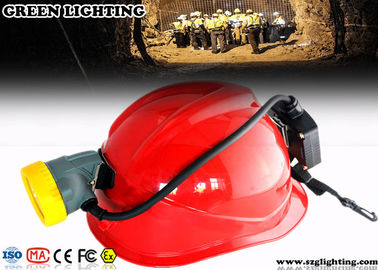 China 5600mAH 3.7V Mining Cap Lights Semi - Corded Type 1.3 Watt Power CE / ATEX Certified factory