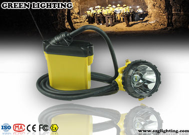 China 25000 Lux Brightness CREE Miners Helmet Light With Low Power Warning Function factory