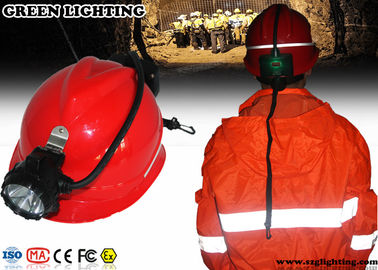 China High Power Miners Cap Lamp With Rear Warning Light 15000 Lux Brightness factory