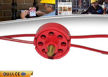 China ZC-L31 Wheel Resistance Cable Lockout , CE 119g  PVC Coated Lockout Tagout factory
