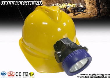 China 3.7V Rechargeable Miners Helmet Light 100000 Hours Life Span 4000 Lux Brightness factory