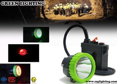 China 50000 Lux Led Headlamp Rechargeable , 4 Color Lighting Miners Cap Lamp factory