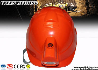 China ABS CREE LED Lights Helmet With 4000Lux Rechargeable Headlamp factory