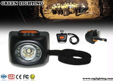 China 4000 Lux Brightness Mining Cap Lights With OLED Display 4.5Ah Li - Ion Battery factory