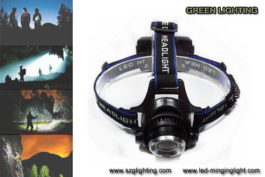 China 1000lumen CREE XML T6 LED rechargeable headlamp with adjustable lighting spot factory