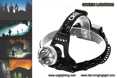 China 500 meters long lighting distance IP65 water-proof rechargeable led headlamp with 189g light weight factory