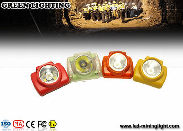 China Light Weight PC Meterial Kl2.6lm Led Mining Headlamp 6000lux With Oled Screen factory