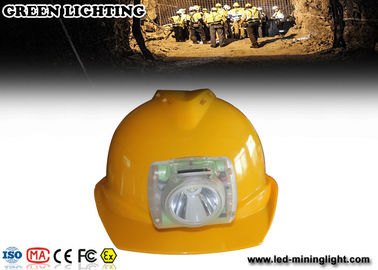 10000 Lux Rechargeable LED Mining Light , portable OLED Screen CREE Led Cap Lamp