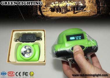 PC + ABS Cree Led Cordless Mining Lights With Sos Purpose , OLED Screen