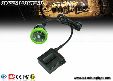 China Long wire LED Mining Lamps With 1500mA 3.7V Lithium Battery , Impact Resistant Headlamp factory